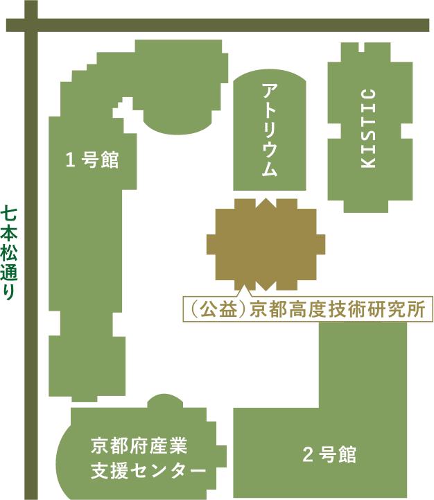 地図:公益財団法人京都高度技術研究所