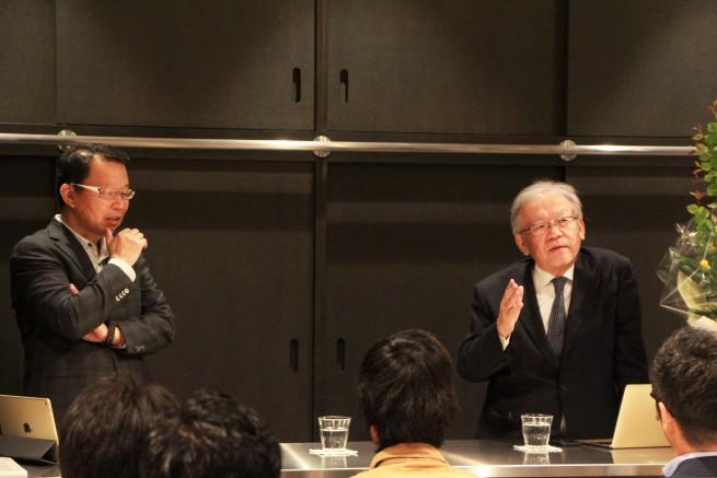 京都市ソーシャルイノベーション研究所 大室所長と池内社長