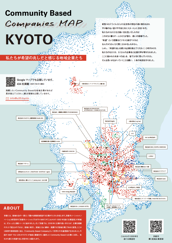 Community Based Companies MAP KYOTO -私たちが希望の兆しだと感じる地域企業たち-